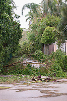 Damage from Hurricane Francis, Palm Beach, Florida, USA