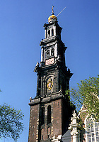 The 17th Century Westerkerk church in Amsterdam (Netherlands, 12/04/1991)