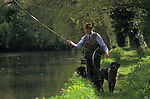 Trout fishing on the river Test Hampshire.   The English Season published by Pavilon Books 1987