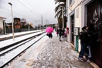 Nevicata ad Albano Laziale