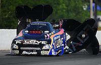 May 5, 2012; Commerce, GA, USA: NHRA funny car driver Tony Pedregon during qualifying for the Southern Nationals at Atlanta Dragway. Mandatory Credit: Mark J. Rebilas-