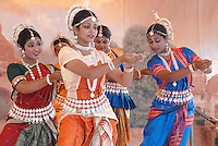 Odissi Dance Circle performs during the 34thAnnual Festival of Chariots  on Sunday, August 1, 2010.  Odissi dance is a classical dance form of Orissa and has its origin in the temples. The Festival of the Chariots featured free feast for thousands, free entertainment, exhibits and booths all bringing together the finest in Indian culture. The festival celebrates Lord Jagannatha, the Lord of the Universe, and is put on by the International Society for Krishna Consciousness (ISKCON). The Festival of the Chariots is now performed in every country across the world and dates back 5 thousand years to Jagannatha Puri, India.