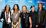 Aerosmith 2012 American Idol Finale Steven Tyler, Joe Perry, Joey Kramer, Brad Whitford and Tom Hamilton