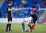 St Johnstone v Kilmarnock.....09.11.13     SPFL<br /> Gary McDoanld battles with Barry Nicolson<br /> Picture by Graeme Hart.<br /> Copyright Perthshire Picture Agency<br /> Tel: 01738 623350  Mobile: 07990 594431