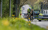 helped back on teh road by the team car after a flat<br /> <br /> 57th Brabantse Pijl - La Fl&egrave;che Braban&ccedil;onne (1.HC)<br /> 1 Day Race: Leuven &rsaquo; Overijse (197km)