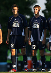 2 September 2007: Old Dominion's Ollie Lutton (ENG) (2), Bobby Foglesong (17). The University of North Carolina Tar Heels tied the Old Dominion University Monarchs 1-1 at Fetzer Field in Chapel Hill, North Carolina in an NCAA Division I Men's Soccer game.