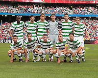 July 16, 2010 The starting eleven for Celtic FC during an international friendly between Manchester United and Celtic FC at the Rogers Centre in Toronto.