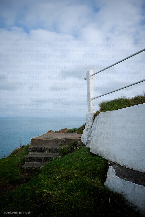Railings with a view of the sea