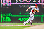 3 April 2017: Washington Nationals second baseman Daniel Murphy in action against the Miami Marlins on Opening Day at Nationals Park in Washington, DC. The Nationals defeated the Marlins 4-2 to open the 2017 MLB Season. Mandatory Credit: Ed Wolfstein Photo *** RAW (NEF) Image File Available ***
