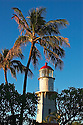 Diamond Head Lighthouse at sunrise; Honolulu, Oahu, Hawaii..