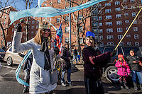 NEW YORK - JANUARY 06: Revelers dance during Three Kings Day Parade in East Harlem January 6, 2017 in New York City. The parade celebrates the Feast of the Epiphany, also known as Three Kings Day, marking the Biblical story of the visit of three kings to Bethlehem to visit the baby Jesus, revealing his divinity. Photo by VIEWpress/Maite H. Mateo