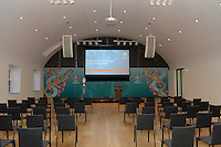 20161216 - AMSTERDAM , NETHERLANDS : Conference room pictured before the UEFA EURO 2020 Host City Logo Launch event at the Hermitage Amsterdam Venue in Amsterdam , The Netherlands , Friday 16 th December 2016 . PHOTO UEFA.COM | SPORTPIX.BE | DAVID CATRY