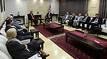 Palestinian Prime Minister, Rami Hamdallah, meets with a delegation of Australia, in West Bank city of Ramallah, on April 27, 2017. Photo by Prime Minister Office