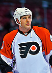 18 December 2008: Philadelphia Flyers' defenseman Andrew Alberts warms up prior to facing the Montreal Canadiens at the Bell Centre in Montreal, Quebec, Canada. The Canadiens look to avoid a four-game slide, while the Flyers seek their sixth win in a row. The Canadiens defeated the Flyers 5-2. ***** Editorial Sales Only ***** Mandatory Photo Credit: Ed Wolfstein Photo