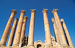 Jordan, Jerash. The Temple of Artemis, built around the middle of the 2nd century A.D&amp;#xA;<br />