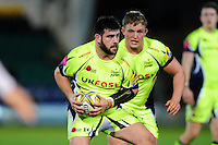 Rob Webber of Sale Sharks in possession. Aviva Premiership match, between Northampton Saints and Sale Sharks on December 23, 2016 at Franklin's Gardens in Northampton, England. Photo by: Patrick Khachfe / JMP