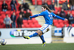 St Johnstone v Kilmarnock.....09.11.13     SPFL<br /> Stevie May scores to make it 2-0<br /> Picture by Graeme Hart.<br /> Copyright Perthshire Picture Agency<br /> Tel: 01738 623350  Mobile: 07990 594431