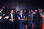 Mrs Maggie Margaret Thatcher 1978, for 1979 General Election UK. Having just give a speech clapped by supporters as she leaves with chairman of local constituency party.