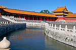 Asia, China, Beijing. Canal of the Forbidden Palace.