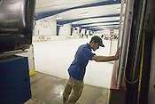 Jordan Glass drives the Zamboni at the RecZone in Raleigh.