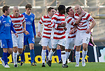 Hamilton Accies v St Johnstone..23.10.10  .Simon Mensing celebrates his penalty.Picture by Graeme Hart..Copyright Perthshire Picture Agency.Tel: 01738 623350  Mobile: 07990 594431