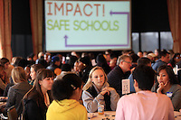 "01222013-  Impact! Safe Schools ""making a positive impact on your school's safety"" conference invited hundreds of local high school students and many Seattle Police Department officers to Seattle University to talk about the importance of maintaining a safe and secure school environment. They addressed issues such as bullying in school or on the internet and how to speak out against it."