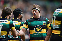 Dylan Hartley of Northampton Saints looks on. Aviva Premiership match, between Northampton Saints and Saracens on April 16, 2017 at Stadium mk in Milton Keynes, England. Photo by: Patrick Khachfe / JMP