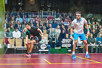 Mohamed Elshorbagy (EGY) vs. Omar Mosaad (EGY) in the second round of the 2014 METROsquash Windy City Open held at the University Club of Chicago in Chicago, IL on February 28, 2014