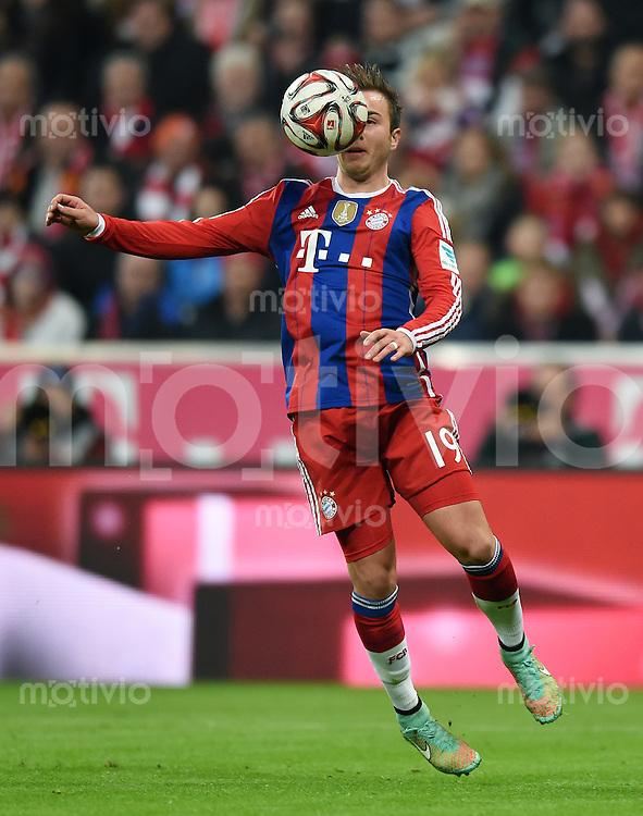 Fussball  1. Bundesliga  Saison 2014/2015  12. SPIELTAG FC Bayern Muenchen - TSG 1899 Hoffenheim     22.11.2014 Mario Goetze (FC Bayern Muenchen) am Ball
