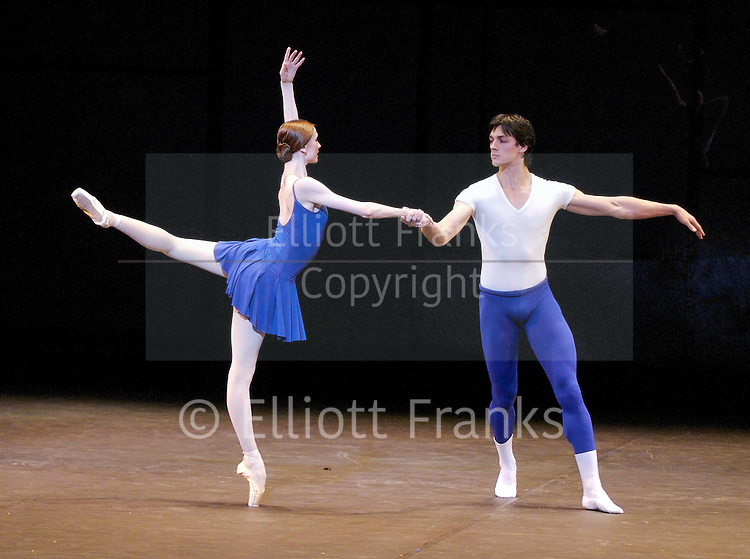 Bolshoi ballet presents <br /> ELSINORE<br /> Choreography by Christopher Wheeldon<br /> <br /> Class Concert<br /> Svetlana Zakharova and Artem Shpilevsky<br /> <br /> In The Upper Room<br /> Choreography by Twyla Tharp<br /> <br /> at the Coliseum, London, Great Britain<br /> General rehearsal<br /> August 13, 2007 <br /> <br /> Artists of the Bolshoi Ballet<br /> <br /> Photograph by Elliott Franks
