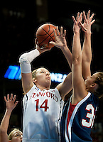 SPOKANE, WA - MARCH 28, 2011: Kayla Pedersen at the Stanford Women's Basketball vs Gonzaga, NCAA West Regional Finals at the Spokane Arena on March 28, 2011.