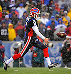 23 December 2007: Buffalo Bills punter Brian Moorman in action against the New York Giants at Ralph Wilson Stadium in Orchard Park, NY. The Giants defeated the Bills 38-21. ..Mandatory Photo Credit: Ed Wolfstein Photo