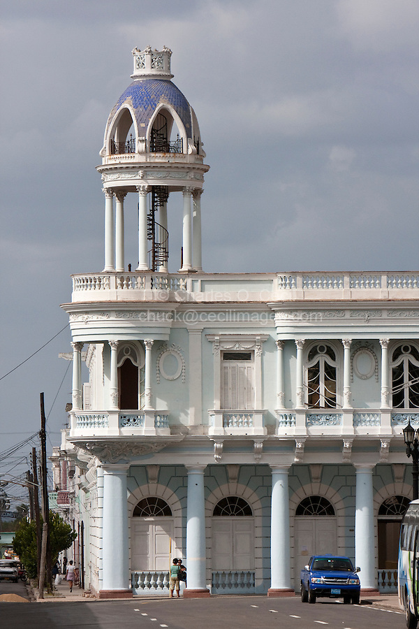 Cuba, Cienfuegos.  Palacio Ferrer, built early 1900s.