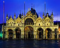 Basilica San Marco, Venice, Italy  On Piazza De San Marco     Built in 1071