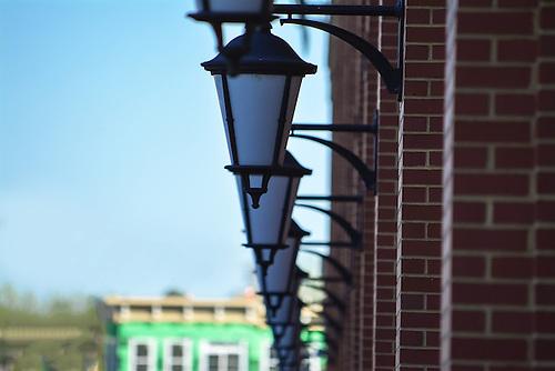 Lights at Newport on the Levee in Newport, Kentucky across the river from Cincinnati Ohio.