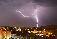 Lightning over downtown Charlottesville.