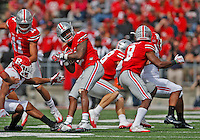 Ohio State Buckeyes wide receiver Dontre Wilson (2) runs back a punt in the third quarter of the OSU Rutgers game at Ohio Stadium October 1, 2016.(Dispatch photo by Eric Albrecht)