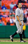12 June 2006: Jamey Carroll, infielder for the Colorado Rockies, walks off the field at the end of an inning against the Washington Nationals at RFK Stadium, in Washington, DC. The Rockies defeated the Nationals 4-3 in the first game of the four game series...Mandatory Photo Credit: Ed Wolfstein Photo..