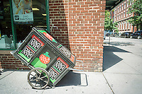 A store of the family owned D'Agostino chain of supermarkets in Greenwich Village in New York on Monday, June6, 2016. The family owned chain which at its peak had 26 stores is reported to be looking to sell its remaining nine stores. The chain is suffering from competition, both brick and mortar and online, as well as expensive leases. (© Richard B. Levine)