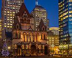 Trinity Church in Copley Square, Boston, Massachusetts, USA