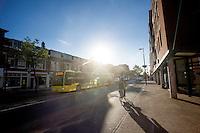 In Utrecht rijden bussen van U-OV, een merknaam van Qbuzz, over de Amsterdamsestraatweg.<br /> <br /> Buses in Utrecht.