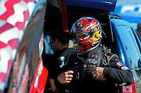 Oct. 28 2011; Las Vegas, NV, USA: NHRA funny car driver Gary Densham during qualifying for the Big O Tires Nationals at The Strip at Las Vegas Motor Speedway. Mandatory Credit: Mark J. Rebilas-US PRESSWIRE