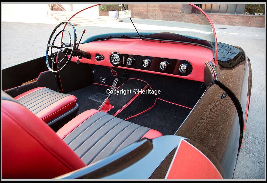 BNPS.co.uk (01202 558833)<br /> Pic: Heritage/BNPS<br /> <br /> ***Plase Use Full Byline***<br /> <br /> An interior shot of the original car.<br /> <br /> The world's first Batmobile has emerged for sale for a whopping &pound;300,000 after being rescued from a field where it spent almost 50 years languishing.<br /> <br /> Batman's famous car was built more than 50 years ago from a 1956 Oldsmobile 88 that was converted to look just like the one from the comic books which made the Caped Crusader famous.<br /> <br /> It is a far cry from the Batmobile that appeared in Christopher Nolan's modern remakes of Batman.<br /> <br /> But as the first Batmobile ever built, experts at Dallas-based Heritage Auctions say it could sell for as much as $500,000 - more than &pound;300,000.