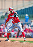 15 March 2016: Washington Nationals pitcher Burke Badenhop on the mound during a Spring Training pre-season game against the Houston Astros at Osceola County Stadium in Kissimmee, Florida. The Nationals defeated the Astros 6-4 in Grapefruit League play. Mandatory Credit: Ed Wolfstein Photo *** RAW (NEF) Image File Available ***