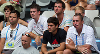 Team Andy Murray watching ANDY MURRAY (GBR) against RYAN HARRISON (USA) in the first round of the Men's Singles. Andy Murray beat Ryan Harrison 4-6 6-3 6-4 6-2 ..17/01/2012, 17th January 2012, 17.01.2012..The Australian Open, Melbourne Park, Melbourne,Victoria, Australia.@AMN IMAGES, Frey, Advantage Media Network, 30, Cleveland Street, London, W1T 4JD .Tel - +44 208 947 0100..email - mfrey@advantagemedianet.com..www.amnimages.photoshelter.com.