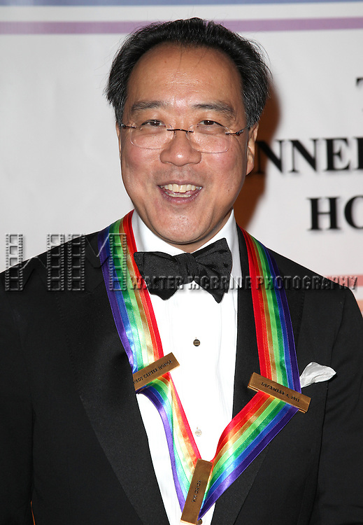 Yo-Yo Ma.arriving for the 34th Kennedy Center Honors Presentation at Kennedy Center in Washington, D.C. on December 4, 2011