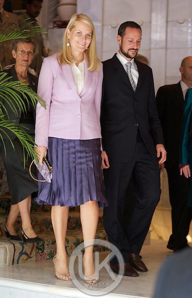 Crown Prince Haakon & Crown Princess Mette-Marit of Norway visit India. Attending Business & Tourism Seminars at the Taj Mahal Hotel in New Delhi.