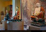 Daoist Deity, Luohan Arhat, Budai Hesheng, Polychrome Stoneware, China, British Museum, London, England, UK