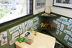 Drawings by children of local wildlife, Shark Valley Visitor Center, Everglades National Park, Florida, USA