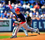 7 March 2010: Washington Nationals' pitcher Jason Marquis on the mound during a Spring Training game against the New York Mets at Tradition Field in Port St. Lucie, Florida. The Mets edged out the Nationals 6-5 in Grapefruit League pre-season play. Mandatory Credit: Ed Wolfstein Photo